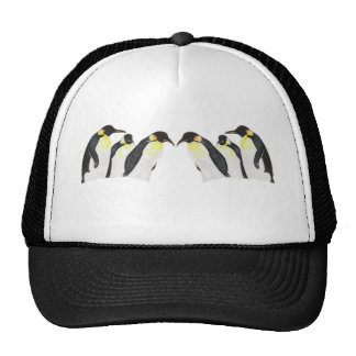 Pingüinos del espejo gorro de camionero