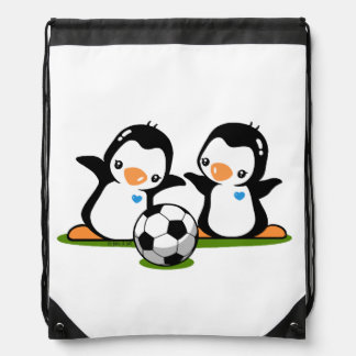Pingüinos del fútbol mochilas