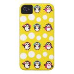 pingüinos del invierno y modelo lindos del dota de iPhone 4 cobertura