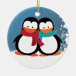 Pingüinos del navidad adorno de navidad