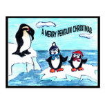Pingüinos del navidad postales