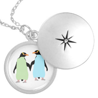 Pingüinos del orgullo gay que llevan a cabo las pendientes