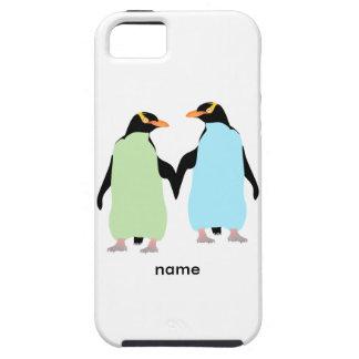 Pingüinos del orgullo gay que llevan a cabo las iPhone 5 fundas