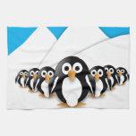 Pingüinos divertidos toallas de mano