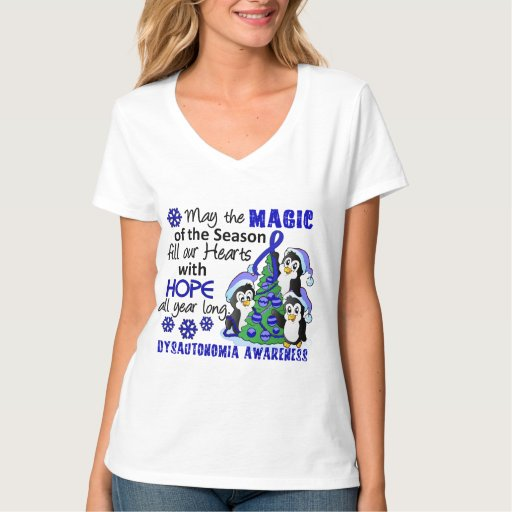 Pingüinos Dysautonomia del navidad Tee Shirt