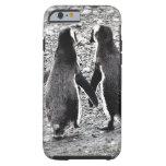 Pingüinos en amor funda de iPhone 6 tough