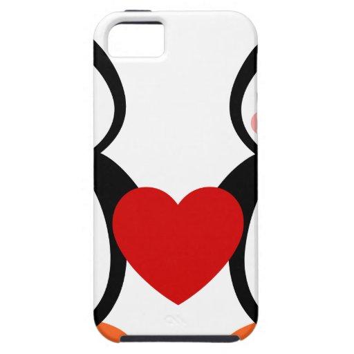 Pingüinos en amor iPhone 5 cobertura