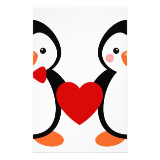 Pingüinos en amor papeleria personalizada