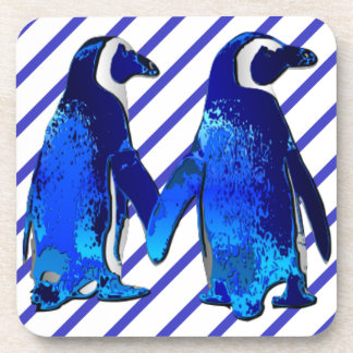 Pingüinos en amor - posavaso