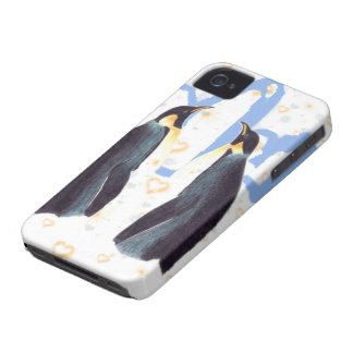 Pingüinos en el caso de Barely There del iPhone 4  Case-Mate iPhone 4 Cárcasa