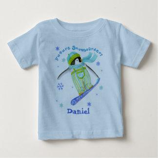 Pingüinos en el juego, Snowboarder, camiseta