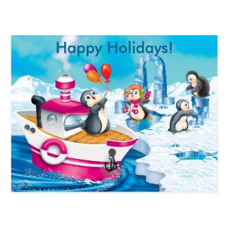 pingüinos en la Antártida Postales
