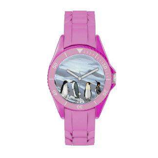 Pingüinos en mi muñeca relojes de pulsera