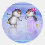 ¡Pingüinos! Etiquetas Redondas