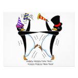 Pingüinos felices de la Feliz Año Nuevo Comunicados