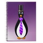 Pingüinos formales: Púrpura Libreta Espiral