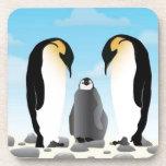 Pingüinos impresionantes posavaso