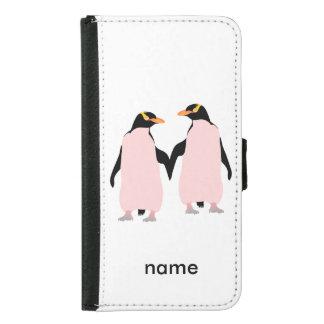 Pingüinos lesbianos del orgullo gay que llevan a