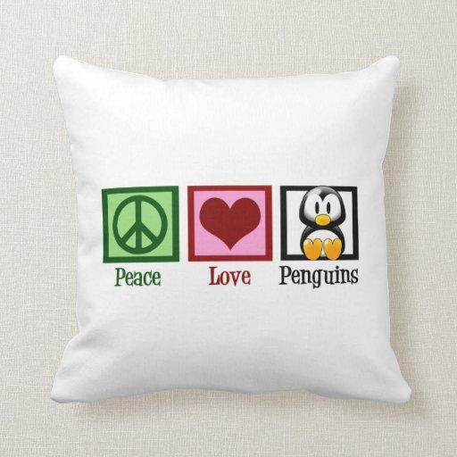 Pingüinos lindos almohadas