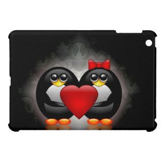 Pingüinos lindos iPad mini carcasa