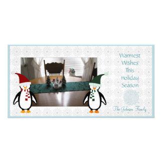 Pingüinos lindos Photocard Tarjetas Personales