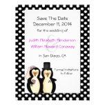 Pingüinos lindos que casan reserva la invitación d