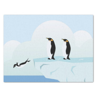 Pingüinos Papel De Seda Mediano