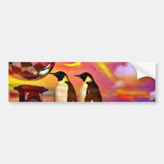 Pingüinos Pegatina Para Auto