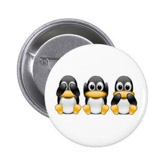Pingüinos Pin Redondo De 2 Pulgadas