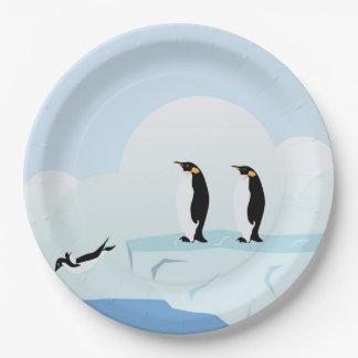 Pingüinos Platos De Papel