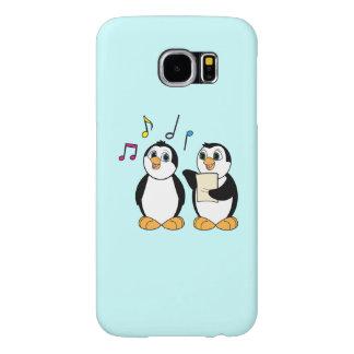 Pingüinos que cantan un dúo con las notas fundas samsung galaxy s6