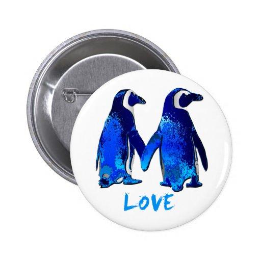Pingüinos que llevan a cabo diseño del amor de las