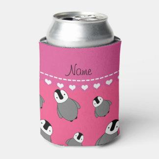 Pingüinos rosados conocidos personalizados del enfriador de latas