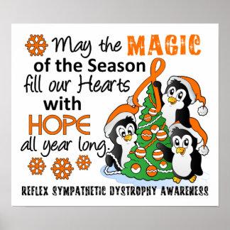 Pingüinos RSD del navidad Posters