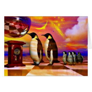 Pingüinos Tarjeta De Felicitación