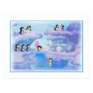 Pingüinos Tarjeta Postal
