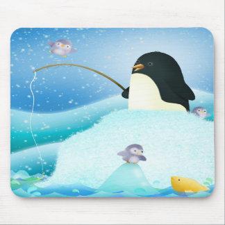 Pingüinos triples del problema - estera del ratón tapetes de raton