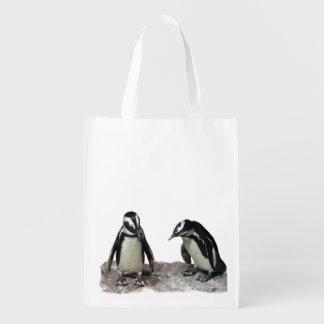 Pingüinos Bolsas Reutilizables