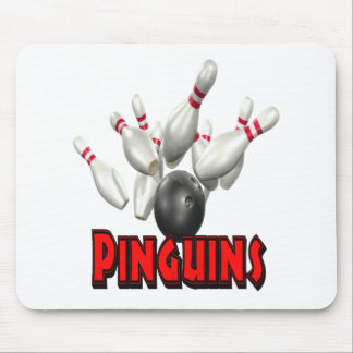Pinguins Bowling Mouse Pad