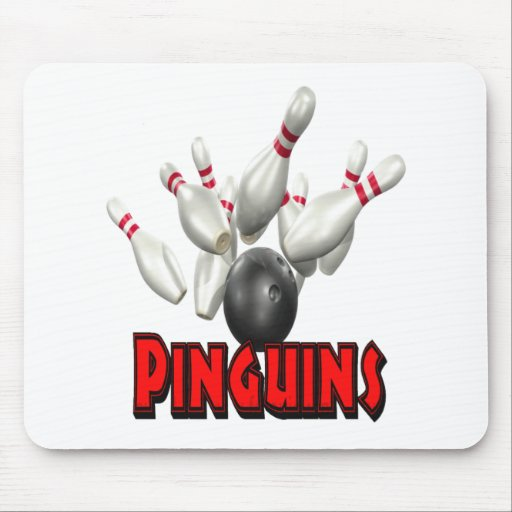 Pinguins Bowling Mouse Pads