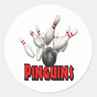 Pinguins Bowling Sticker