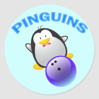 PINGUINS - BOWLING TEAM CLASSIC ROUND STICKER