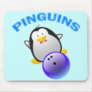 PINGUINS - BOWLING TEAM MOUSE PAD