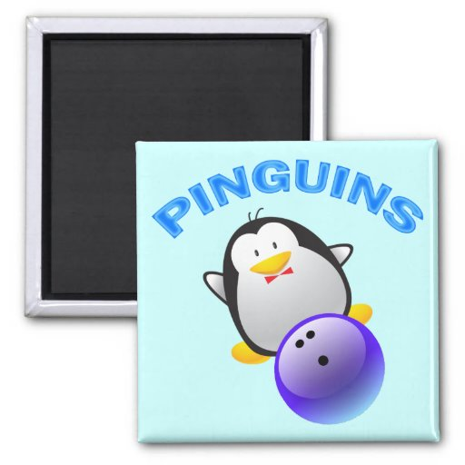 PINGUINS - BOWLING TEAM REFRIGERATOR MAGNETS
