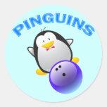PINGUINS - EQUIPO QUE RUEDA PEGATINAS