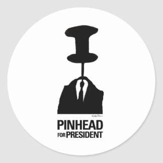 Pinhead For President Stickers