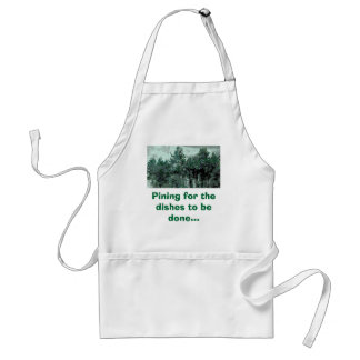 Pining for the dishes to be done... apron