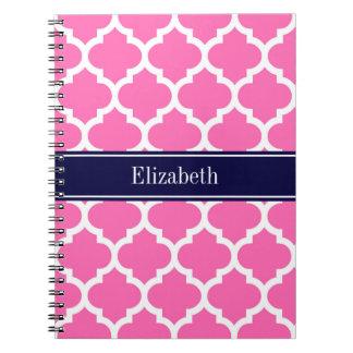 Pink2 los azules marinos blancos calientes del cuaderno