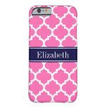 Pink2 los azules marinos blancos calientes del funda de iPhone 6 barely there