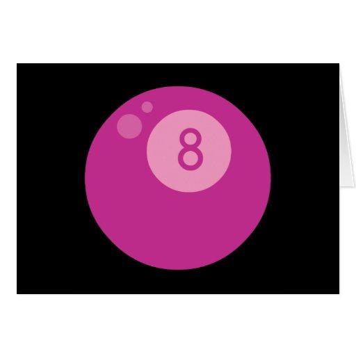pink8ball greeting card